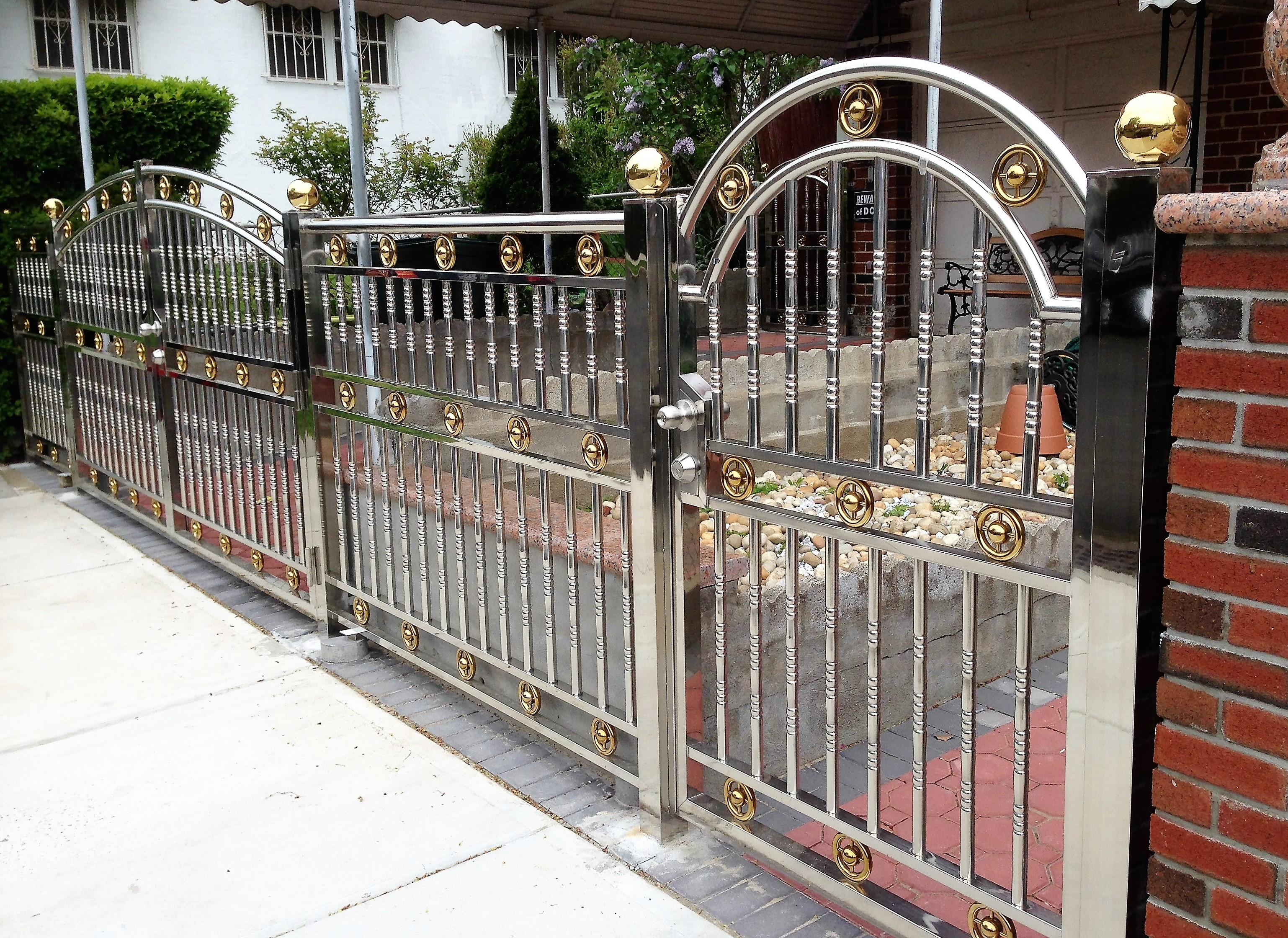 Successful Cases Universe Stainless Steel Inc Fences Railing Gates Doors Canopies Awning Stainless Steel Material